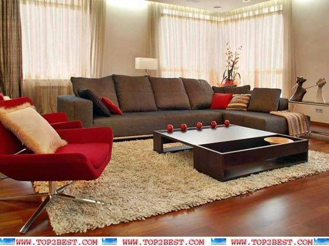 Brown and red living room Living room Pinterest Red living - red and brown living room