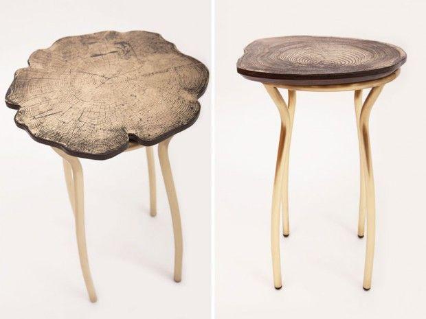 Stumps Collection par Sharon Sides - designer stuehle metall baumstamm