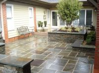 Stylish Blue Stone Patio Dry Stone Home Decor Ideas | blue ...