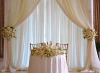 Wedding Sweetheart table backdrop, | Chez Rose floral ...