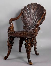 carved wood italian grotto chair 1880 wonderful handcarved ...