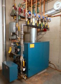 Burnham Hydronics Oil-Fired Boiler with 5 heating zones ...