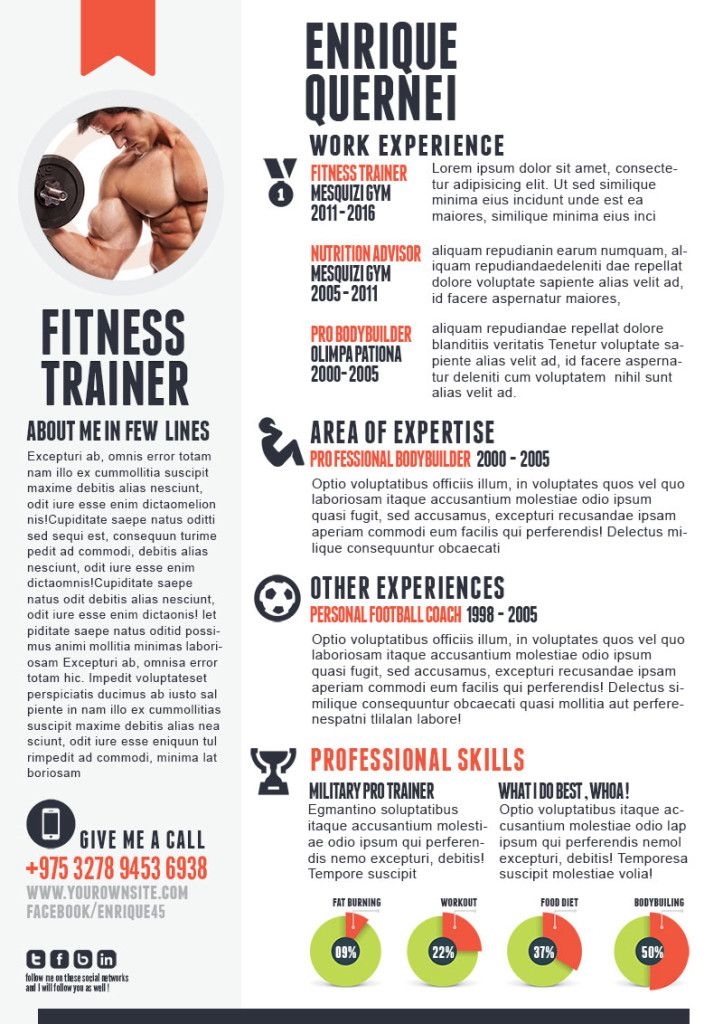 Fitness-Trainer-Resume resume inspiration Pinterest - fitness trainer resume