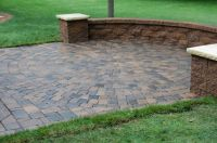 Patio Designs Among Retaining Walls Combined With Flooring ...