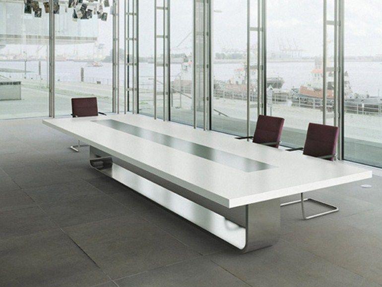 Rectangular meeting table S8000 by THONET design Hadi Teherani - innovative esstisch designs moderne esszimmer