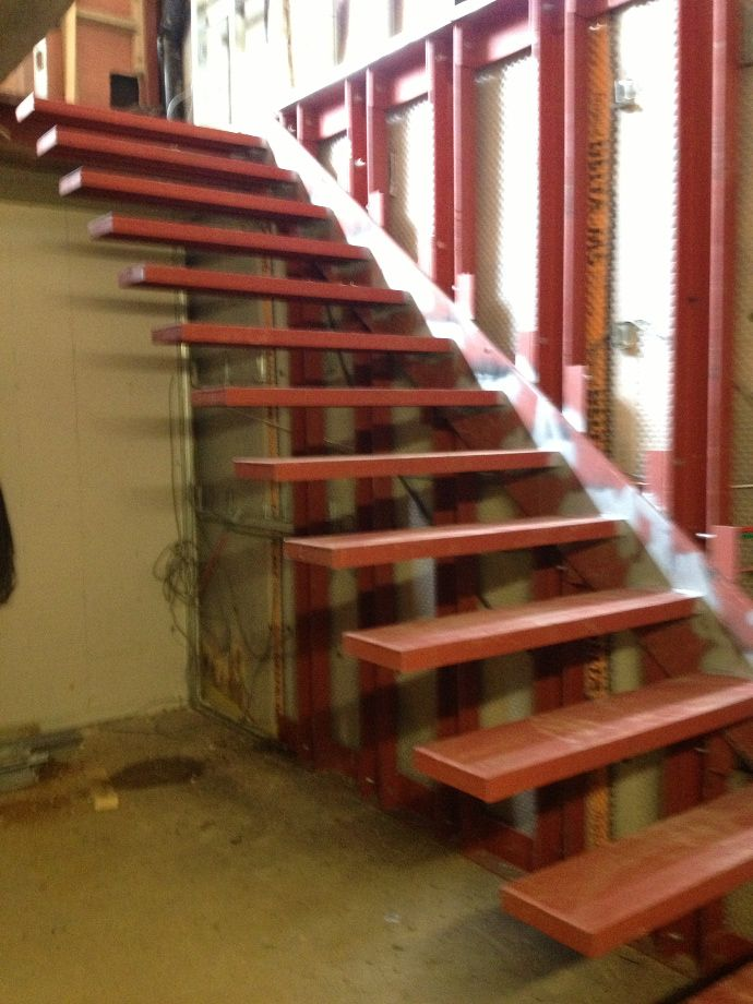 Floating Stairs Steel Fabrication And Installation