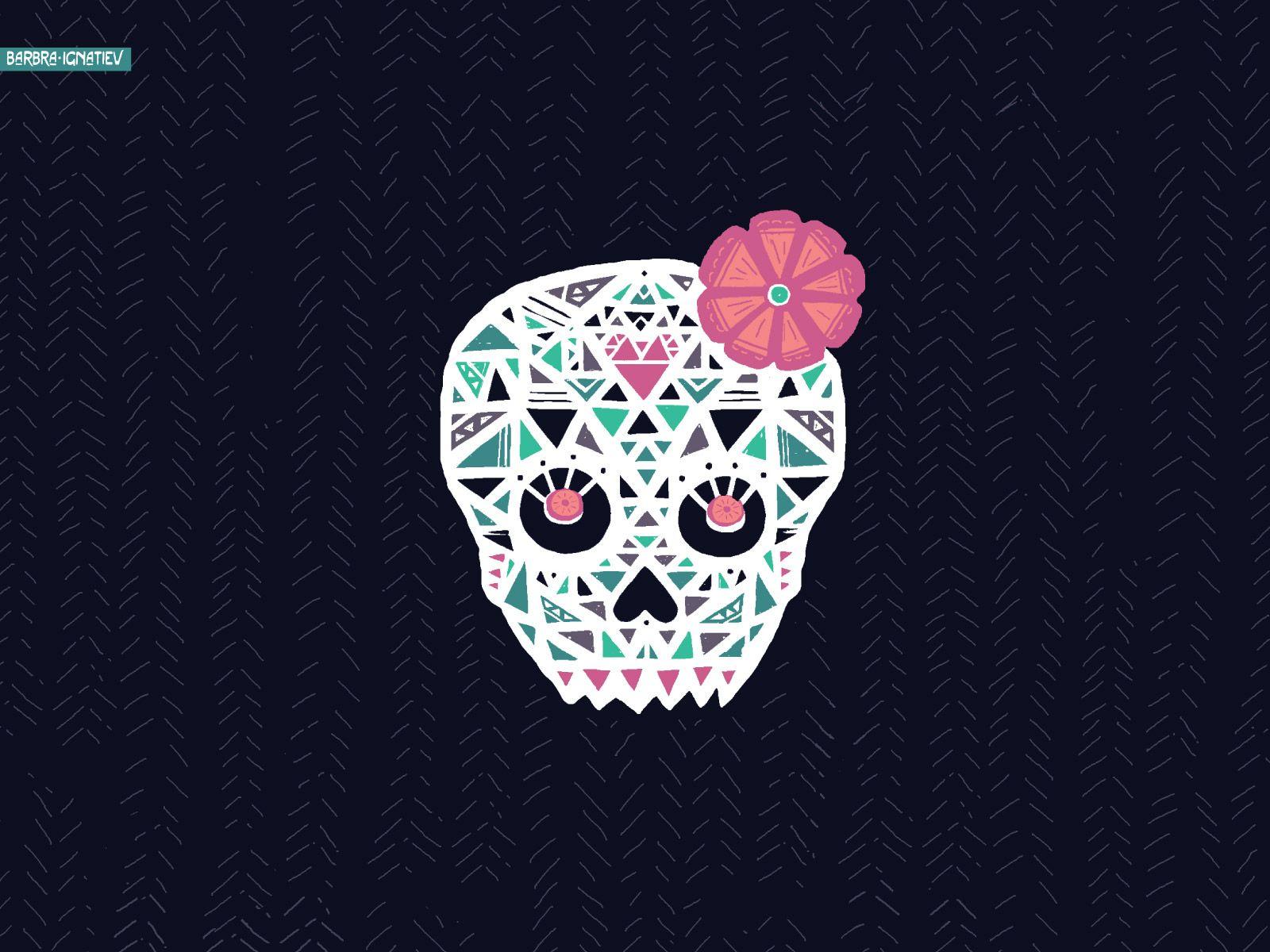 Pink sugar skull wallpaper mbulaho tumblr iphone wallpaper