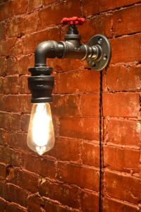 Wall Light - Industrial light - Steampunk Sconce ...