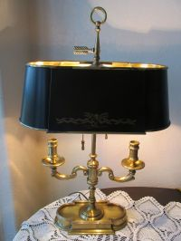 Vintage Frederick Cooper Stately Brass French Empire Tole ...
