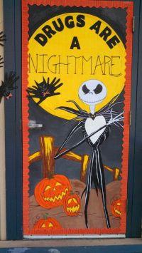 Nightmare before Christmas red ribbon week classroom door ...