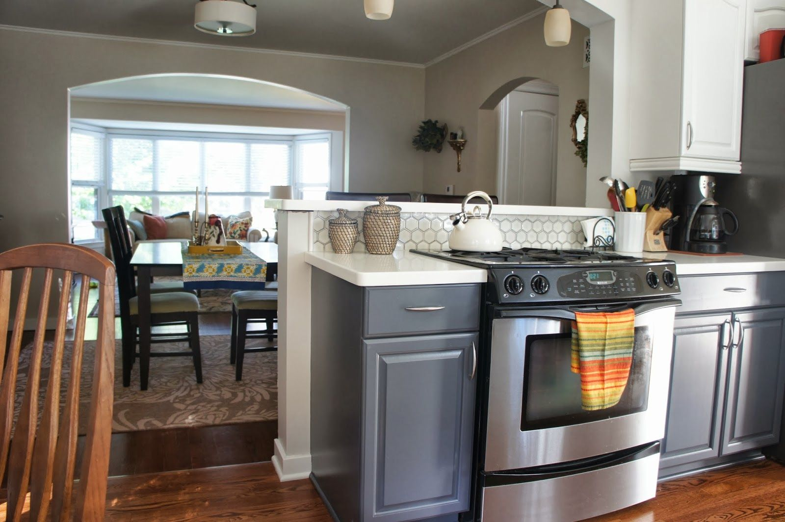 grey and white dining room gray kitchen table 17 Best images about Kitchen on Pinterest Kashmir white granite