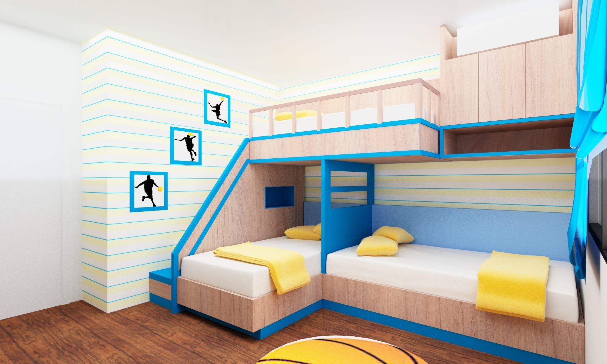 Cool Bunk Beds Creative Triple Bunk Beds For Teens And Kids Bedroom