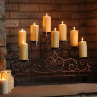 Scrolled Copper Fireplace Candelabra | Fireplace ...