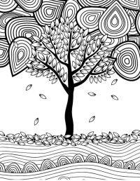 12 Fall Coloring Pages for Adults - Tree | Fall Crafts ...