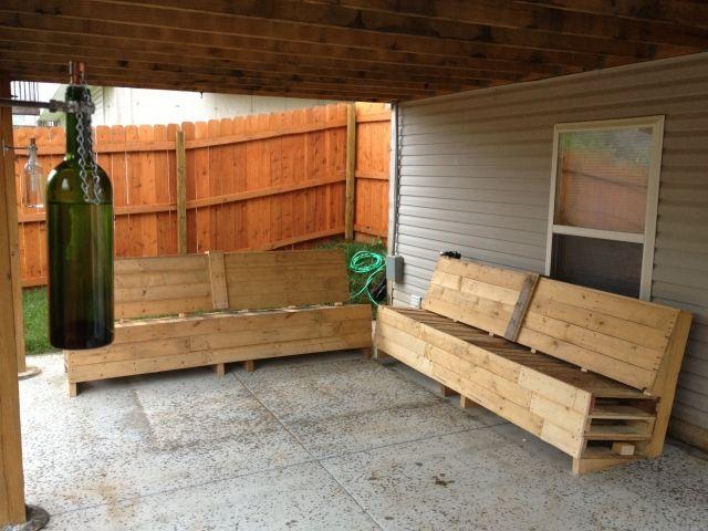 überdachte terrasse möbel holz europaletten bauen Palettenmöbel - holz mobel aus europaletten bauen