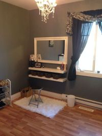 DIY Wall Mounted Makeup Vanity Pictures   diy home decor ...