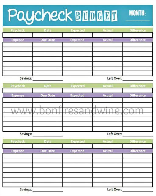 Livinu0027 Paycheck to Paycheck - Free Printable Budget Form - free printable budget planner