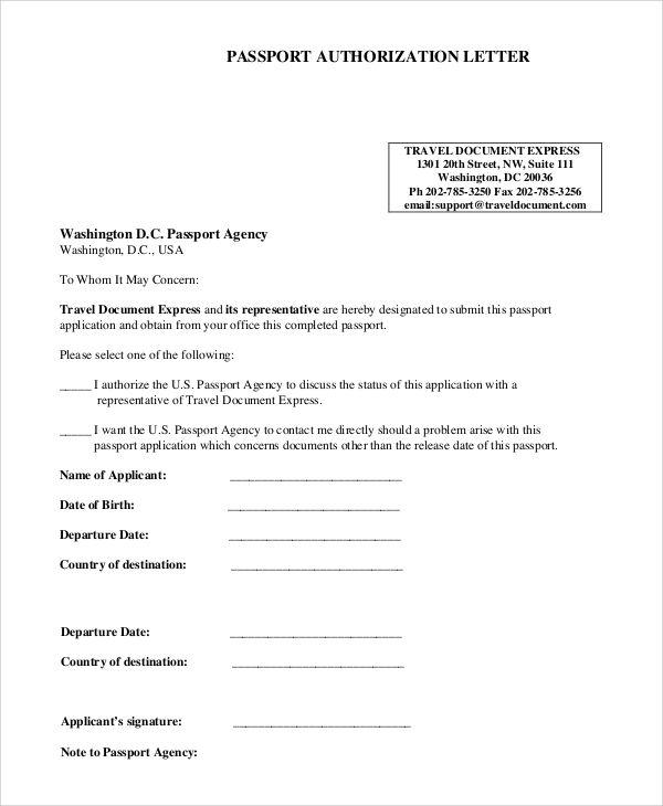 authorization letter receive passport ledger paper notarized - authorization letters sample