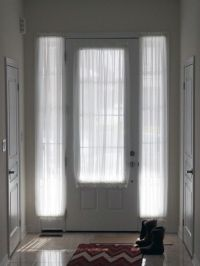 Sheers for both the Front door glass and the two sidelight ...