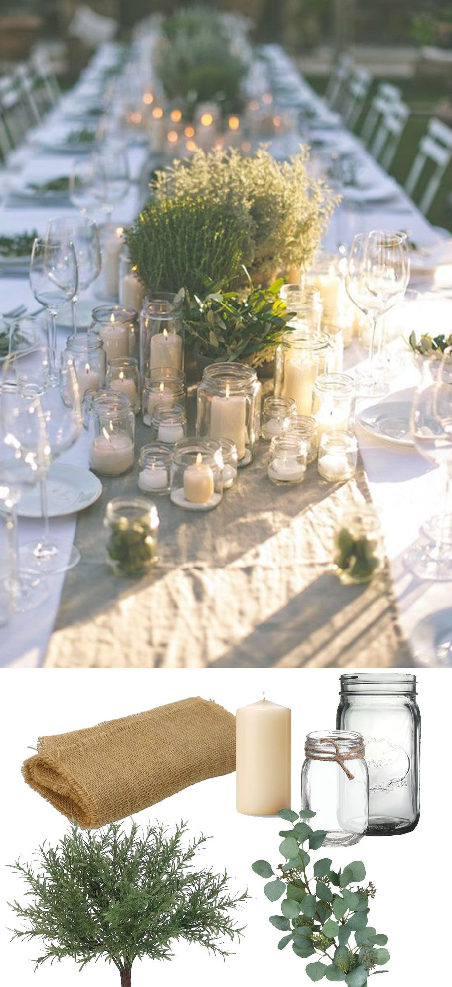 Party Tischdeko Beautiful Rustic Green Tablescape. Recreate This Look With
