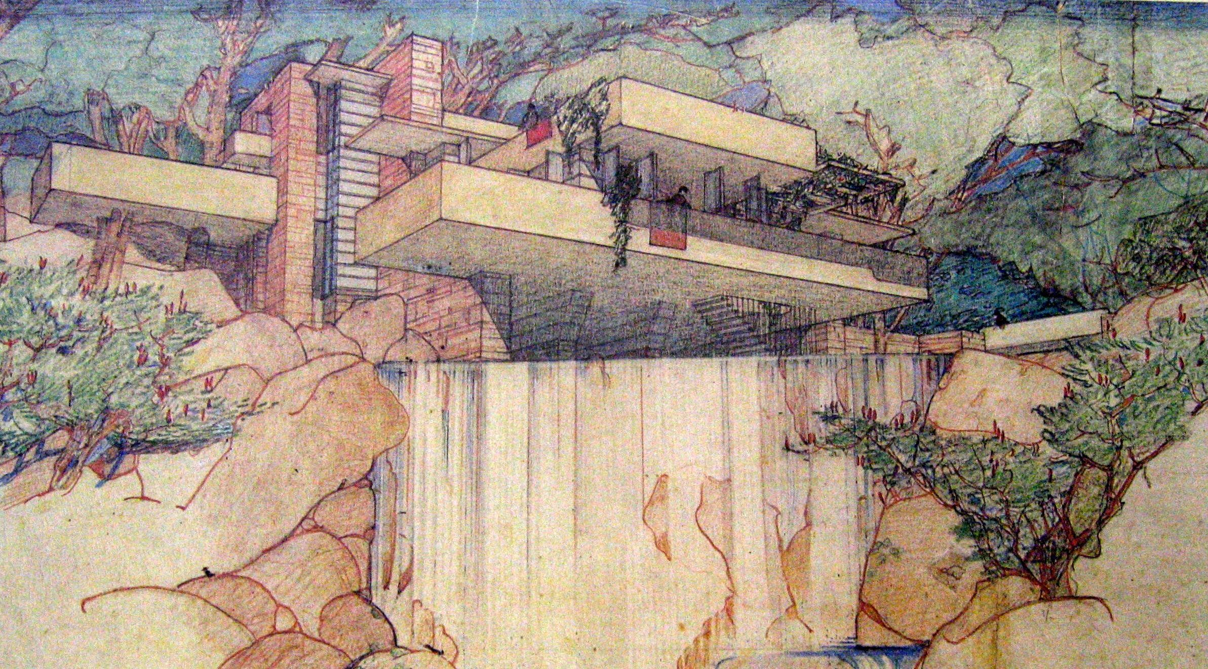 Frank Lloyd Wright Prints Framed Visiting Fallingwater America 39s Most Beautiful House