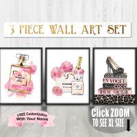Fashion Wall Art, Fashion Art Set, Chanel Art Set, Blush ...