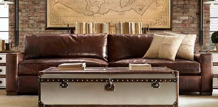 Restoration Hardware with the extra deep couch for tall people a - deep couches living room