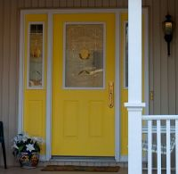 Yellow Front Door With sidelights painted to match | For ...
