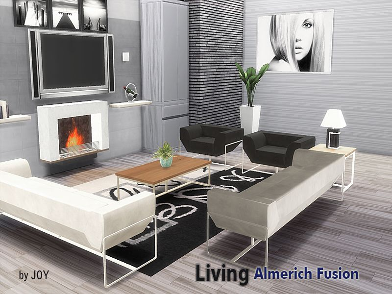 A modern living room set Found in TSR Category u0027Sims 4 Downloads - modern living room set