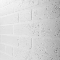 Paintable White Brick Wallpaper | ANAGLYPTA - LINCRUSTA ...