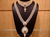Gold CZ Stone Bridal Jewellery Set | Gold bridal jewellery ...