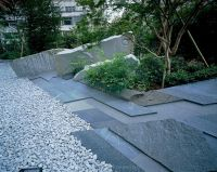 garden paving  contemporary japanese style garden with ...