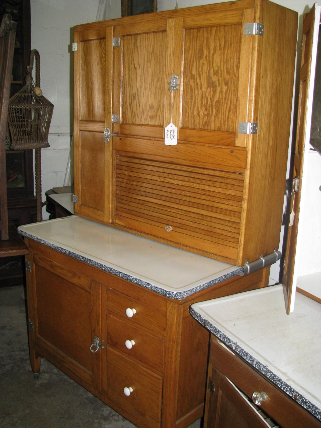Hoosier Style Kitchen Cabinet Antique Hoosier Bakers Cabinet Including Yet Not Limited