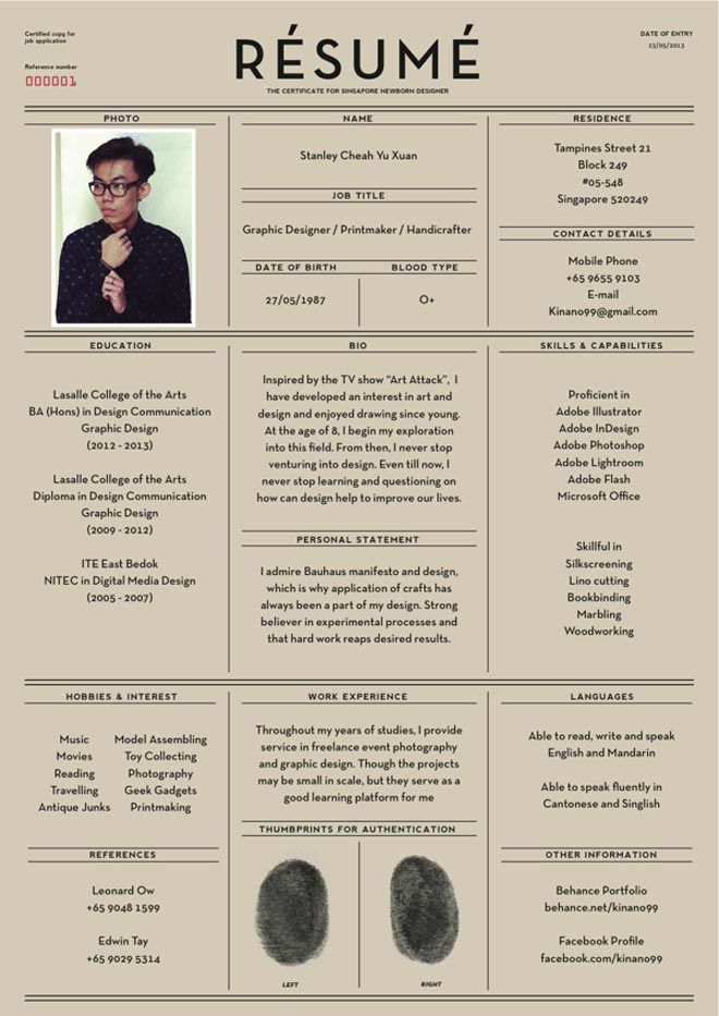 Creative \ Stylized Resumes\/CVs (film and graphic design industry - cvs resume paper