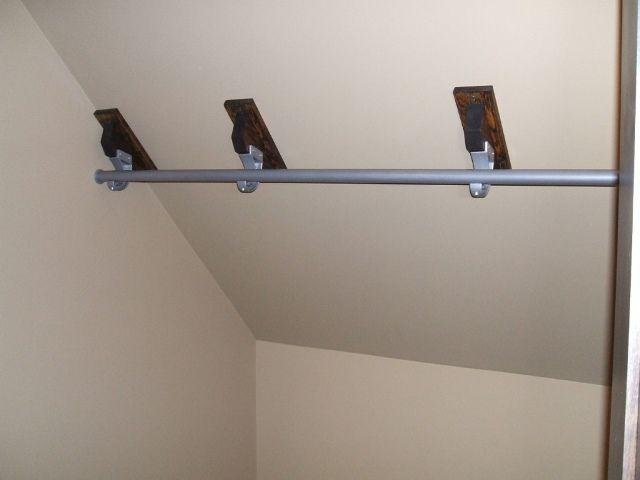 Tremendous Closet Rod Bracket For Sloped Ceiling. SaveEnlarge · Angled ...