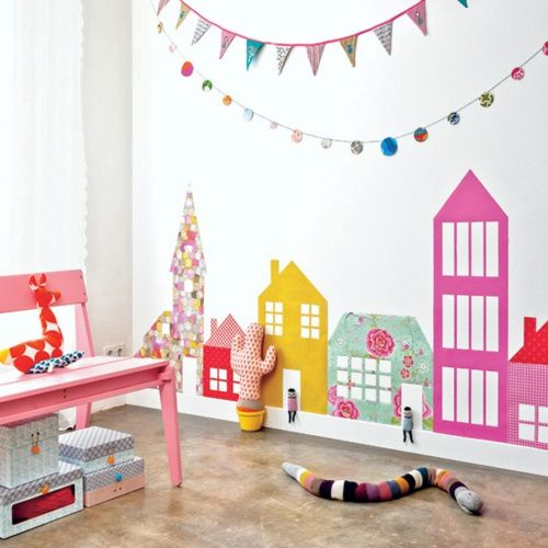 babyzimmer komplett gestalten girlanden ketten wand Kinderzimmer - kinderzimmer gestalten wand