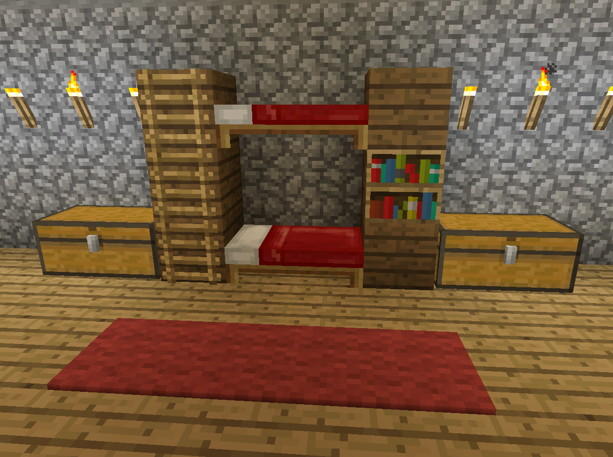Minecraft Kitchen Mod 1.8 Minecraft Bunk Bed Furniture Minecraft Creations