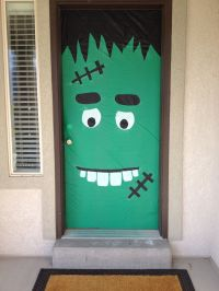 Halloween Door Decoration - $3 in Dollar Store plastic ...