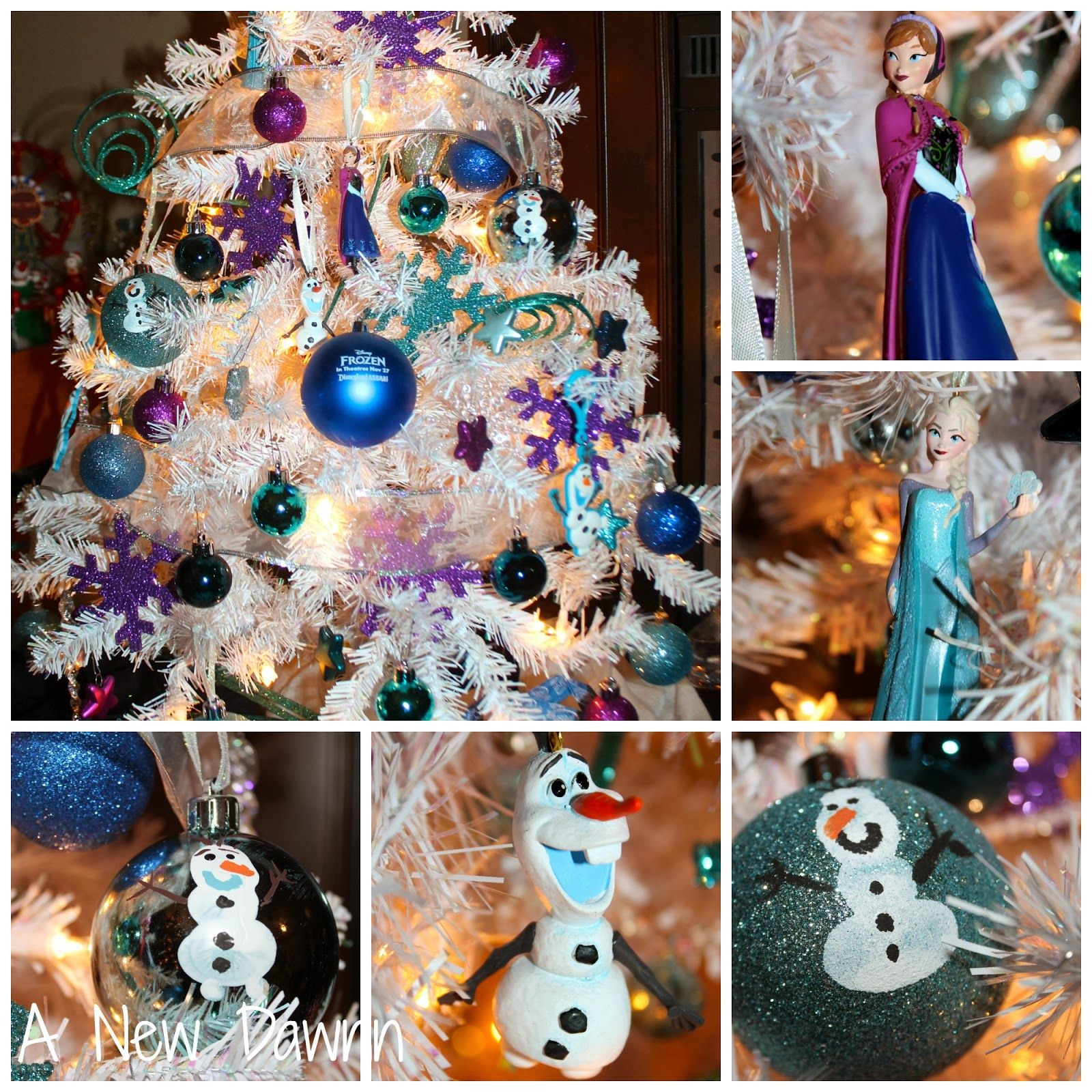 Disney s frozen themed christmas tree with handmade ornaments included