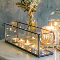Long Glass Tea Light Holder | Lanterns | Pinterest | Glass ...