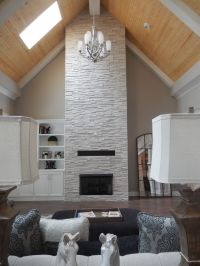 Realstone Tile Fireplace provided by Louisville Tile