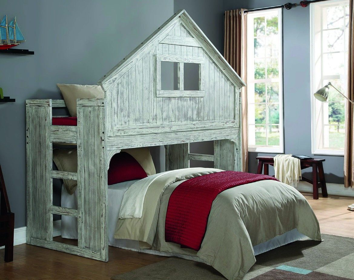 Cool Bunk Beds Cool Bunk Beds With Club House Design Twin Size Loft Bed