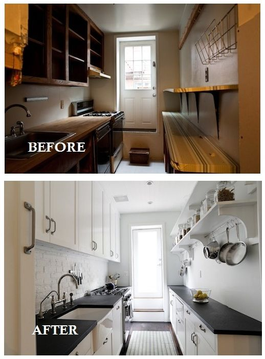 small galley kitchen remodel before and after Home Decorating - small galley kitchen design