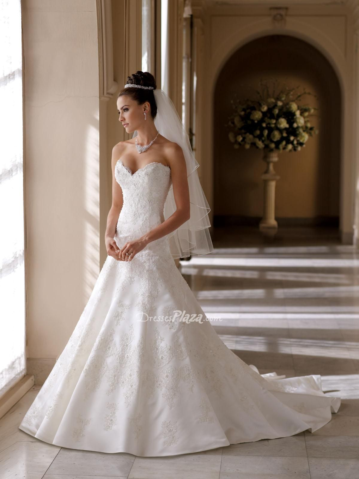 sweetheart neckline wedding dress beaded lace over a line wedding dress with sweetheart neckline and corset back
