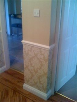 Wallpaper under Dado Rail | Staircases | Pinterest | Dado rail, Wallpaper and Living rooms