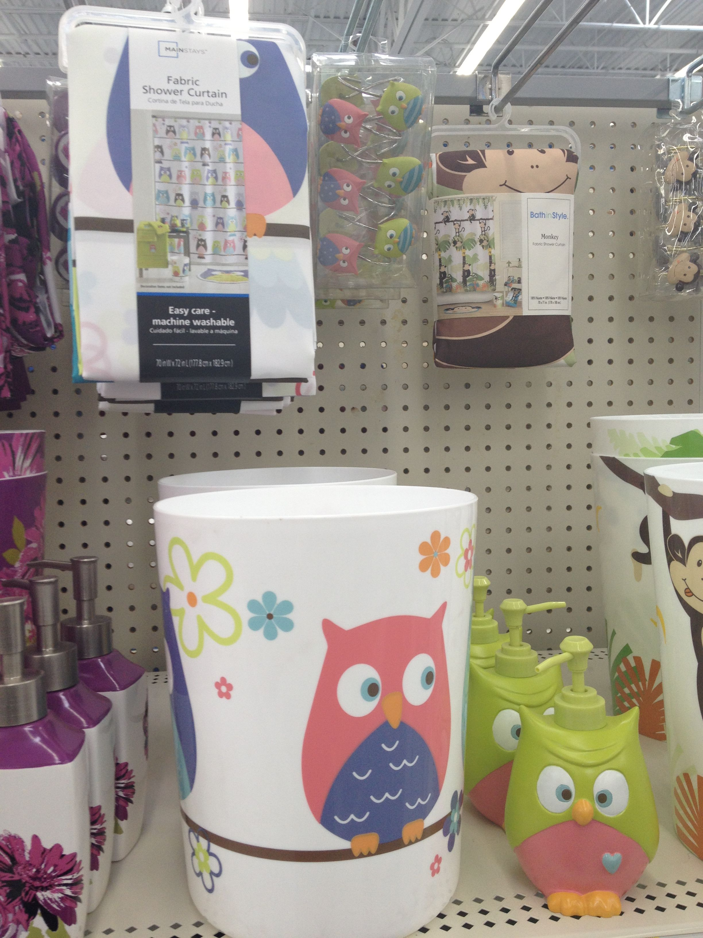 Owl Decor For Bathroom Owl Bathroom Stuff From Walmart Kmk Owls Pinterest