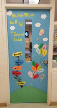 Oh, the Places you'll Go! door decoration | Dr. Seuss ...