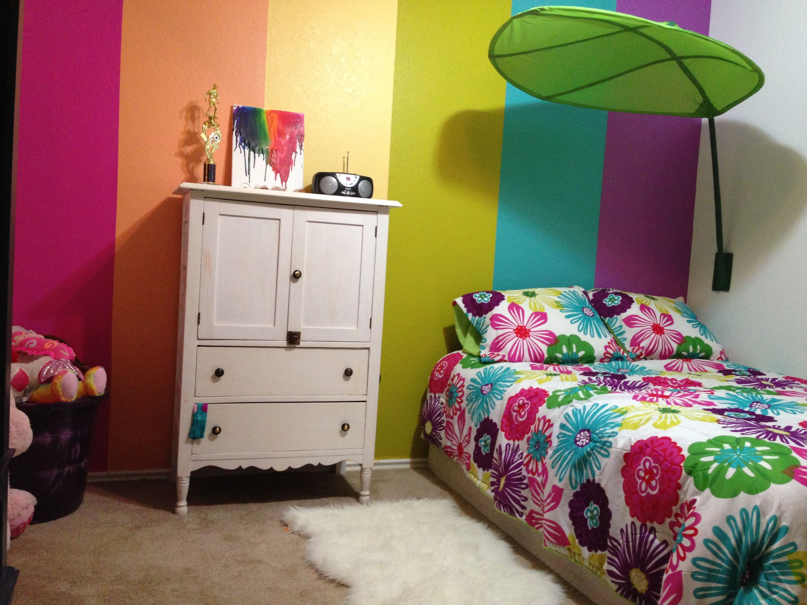 Rainbow Bedroom Ideas My 5 Year Old 39s Rainbow Room Girls Rooms Pinterest