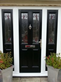 single front doors with glass