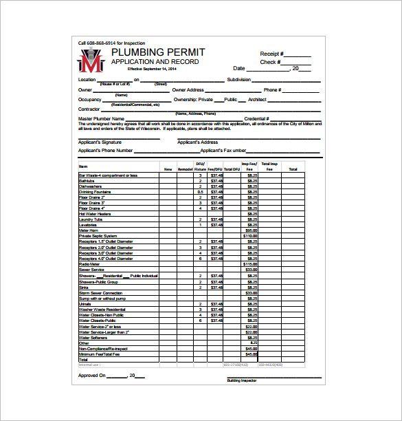 Plumbing Receipt , Receipt Template Doc for Word Documents in - plumbing receipt template